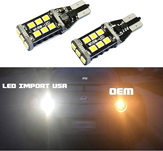 T10 T15 921 912 906 901 909 LEDpartsNow WHITE LED Exterior Back Up Reverse Lights Replacement for 2008-2020 Toyota Highlander 2 Bulbs