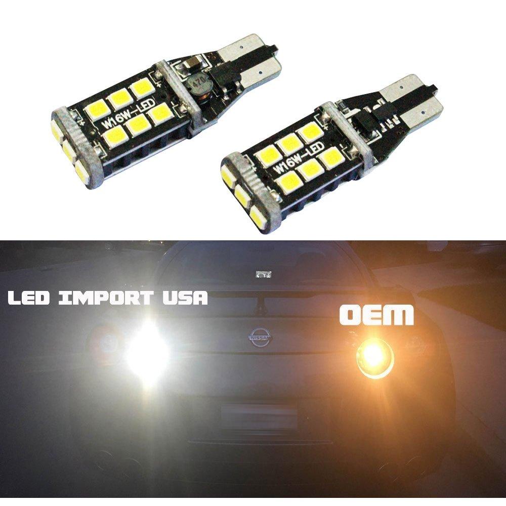 Amazon.com: LED Import USA 800 Lumens Really Bright Error Free 921 912 LX  Chipsets LED Bulbs For Backup Reverse Lights, 6000K White: Automotive