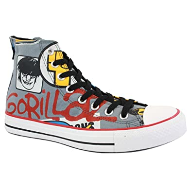 online store 6181b 4f803 Converse Chuck Taylor Gorillaz Hi 132178C Unisex Limited Edition Laced  Canvas Trainers Lead - 12  Amazon.co.uk  Shoes   Bags