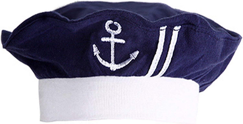 3-12 Months Newborn Infant Nautical Sailor Embroidered Baby Boy Hat