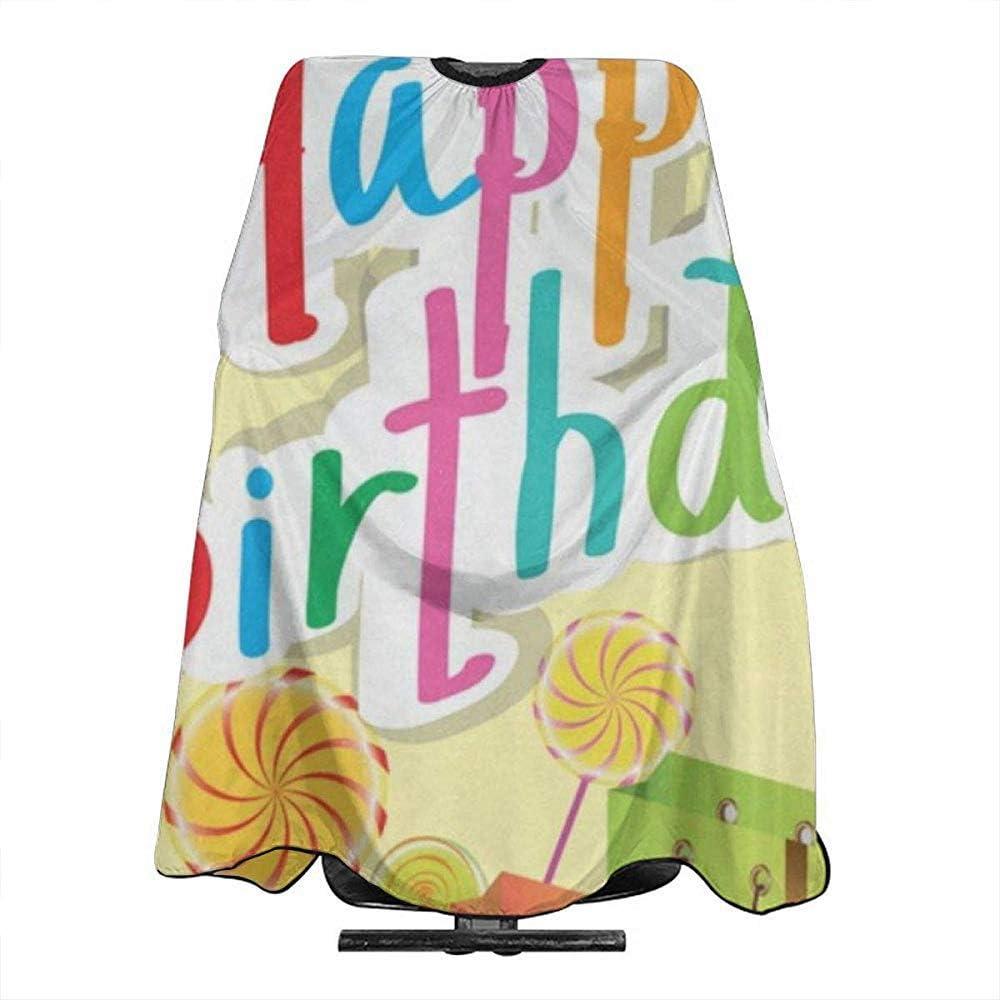 Barberos Delantal Globos De Colores Rainbow Happy Birthday ...