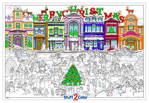 Christmas is Coming - Giant Wall Size Coloring Poster - 32.5
