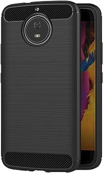 AICEK Funda Moto G5S, Negro Silicona Fundas para Motorola Moto G5S ...