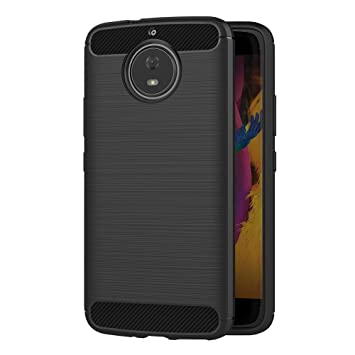 AICEK Funda Moto G5S, Negro Silicona Fundas para Motorola Moto G5S Carcasa Motorola G5S Fibra de Carbono Funda Case (5,2 Pulgadas)