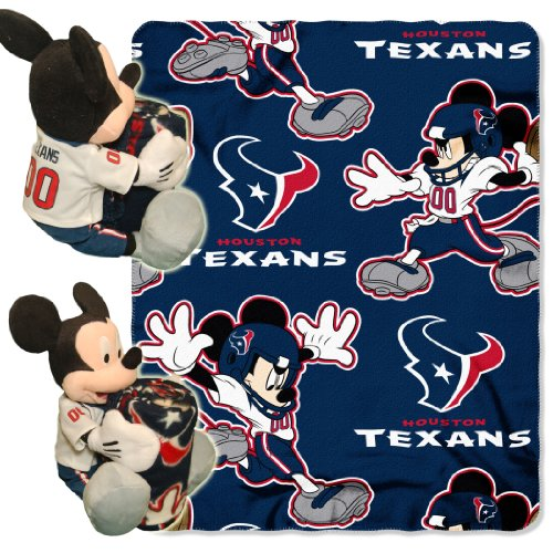 (The Northwest Company Officially Licensed NFL Houston Texans Co Disney's Mickey Hugger and Fleece Throw Blanket Set )