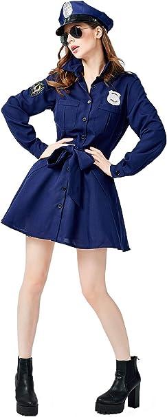 Disfraz de Policia Para Mujer Disfraz de Policia Vestido Largo de ...