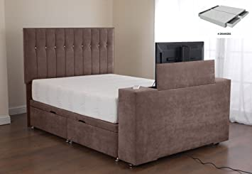 Furniture Expressions Sweet Dreams Image Sparkle Divan TV Bed   PT 4  Drawers   Taupe