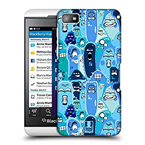 Head Case Designs Blue Doodled up Germs Protective Snap-on Hard Back Case Cover for BlackBerry Z10