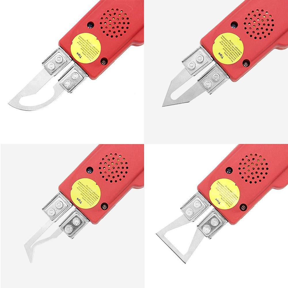 HUKOER 4 en 1 Cuchillo Eléctrico Caliente 220V / 100W Herramienta de Corte Espuma de Poliestireno Profesional para Cortar ...