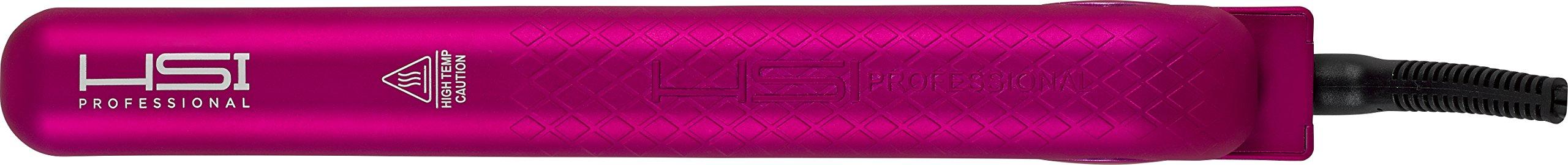 HSI Professional GliderPlus Pink Hair Straightener  | Digital Ceramic Ionic Tourmaline Flat Iron | Dual Voltage 110v-220v | Glove, Pouch & Argan Oil by HSI PROFESSIONAL