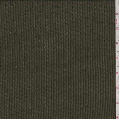 Rib Knit Material (Dark Olive Jersey Rib Knit, Fabric by The Yard)