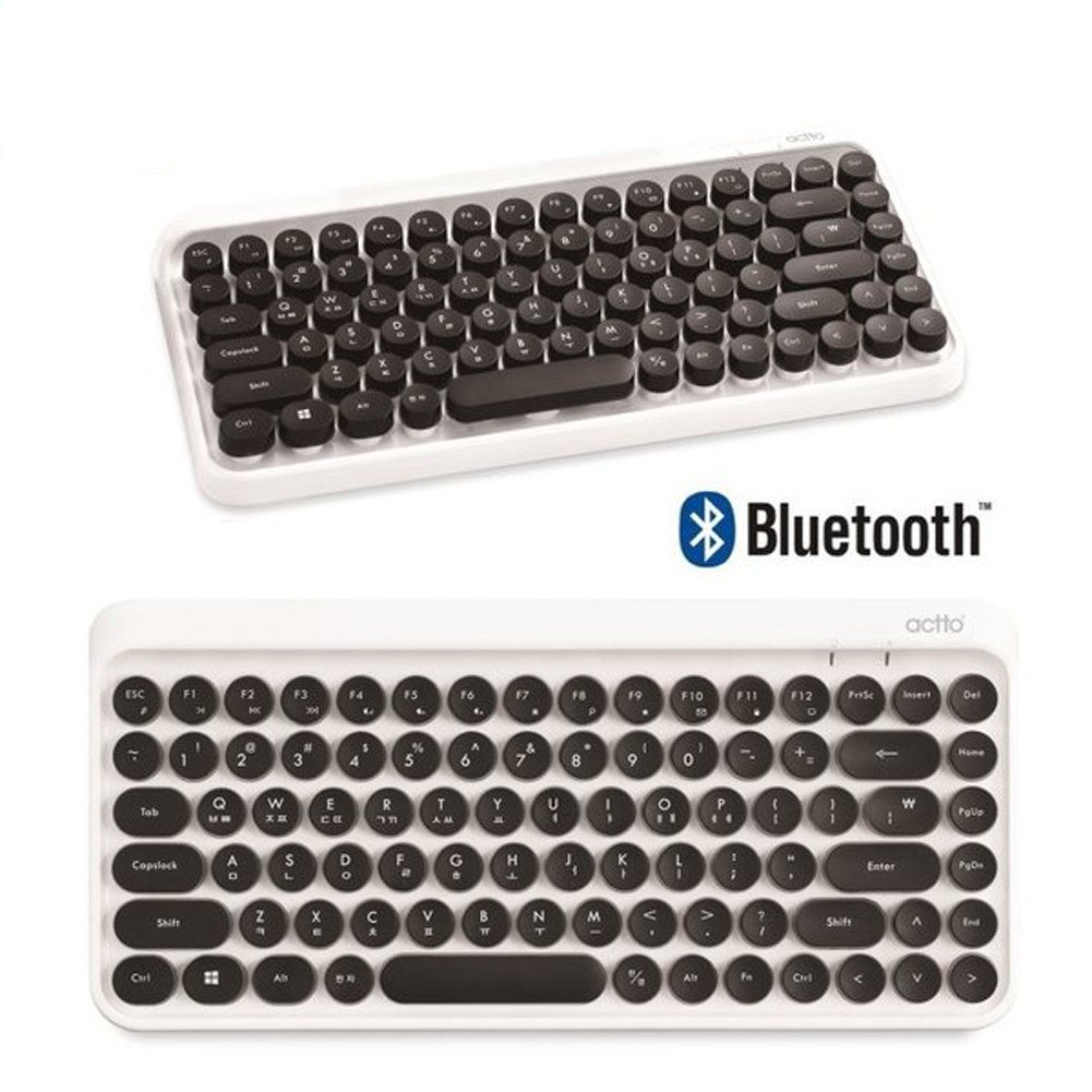 ACTTO BTK-01 Retro Classic - Mini Teclado inalámbrico Bluetooth: Amazon.es: Electrónica