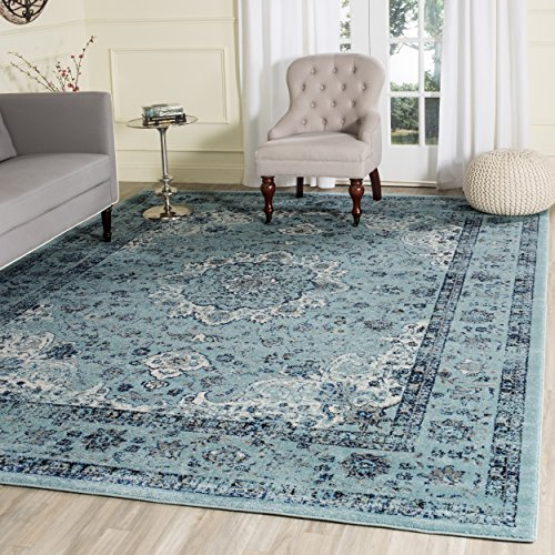 Safavieh Evoke Collection EVK220E Oriental Vintage Light Blue and Light Blue Area Rug (9' x 12')