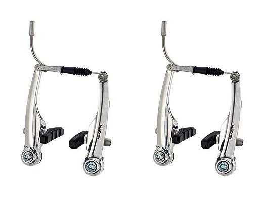 2x Freno Puente Frenos V Brake ALHONGA de Aluminio Plata Bicicleta ...
