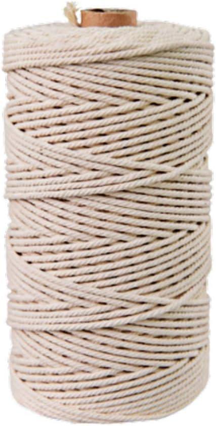 Supvox Cuerda de algodón macramé de 4 mm * 110 yardas cuerda de ...