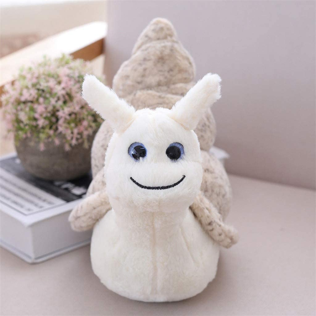 Armfer Toys Snail Stuffed Animal Small Cute Baby Conch Plush Stuffed Animals Lovely Big Eyes Pal Buddy Lovely Dolls Stocking Birthday Party Favor Supplies for Kids Boys Girls 8