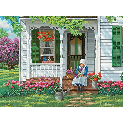 Bits and Pieces - 300 Large Piece Jigsaw Puzzle for Adults - The Scent of Spring - 300 pc Flowers in Bloom Jigsaw by Artist John Sloane