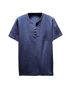 Yonglan Hombres Estilo Chino T-Shirt De Manga Y Slim Fit Pantalones  Recortados Ocio De 6a347d250cd