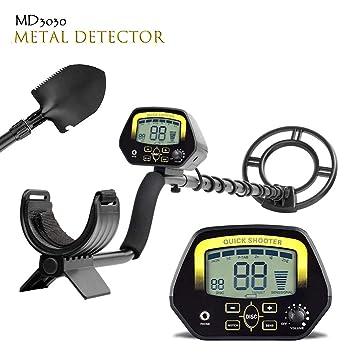 TOPQSC MD3030 - Detector de Metales (Pantalla LCD de Color Dorado y bajo el Agua Poco Profunda): Amazon.es: Jardín