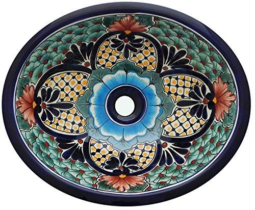 Talavera Mexican Bathroom Sink Handmade Hand Painted 21 x 17 Large -