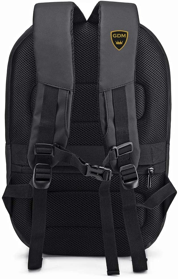 GDM SPECTER motorcycle backpack speaker compatible hard shell water resistant gear bag with USB charging port