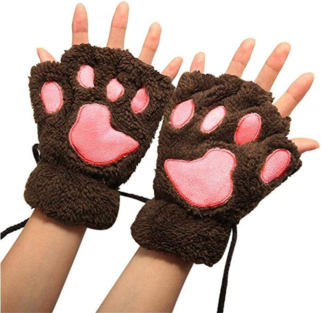 Cat Paw Claw Gloves Winter...
