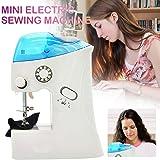 Mini máquina de costura para iniciantes, máquinas de costura elétricas portáteis para roupas de tecido, roupas infantis…