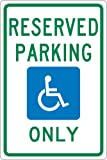 NMC TMS318G Reserved Parking ONLY Sign, Michigan