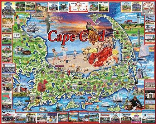 White Mountain Puzzles Cape Cod - 1000 Piece Jigsaw Puzzle ()