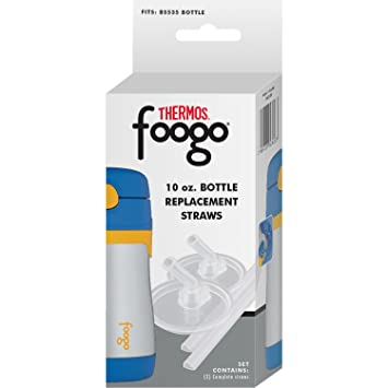 Thermos Foogo Replacement Straw Set for Thermos 10-Ounce Straw Bottles, Set  of Two Straws