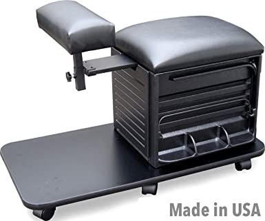 Superb 2317 Salon Spa Pedicure Nail Station Stool W Footrest Made In Usa By Dina Meri Caraccident5 Cool Chair Designs And Ideas Caraccident5Info