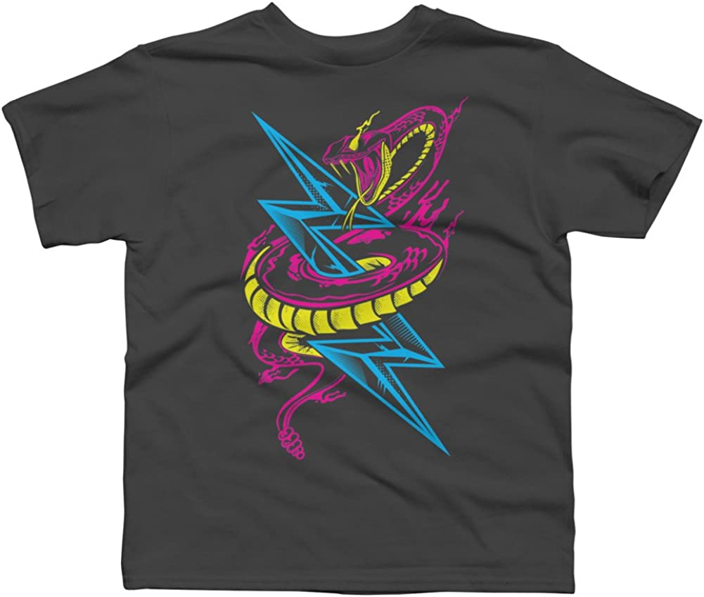 Lightning Serpent Boys Youth Graphic T Shirt Design By Humans