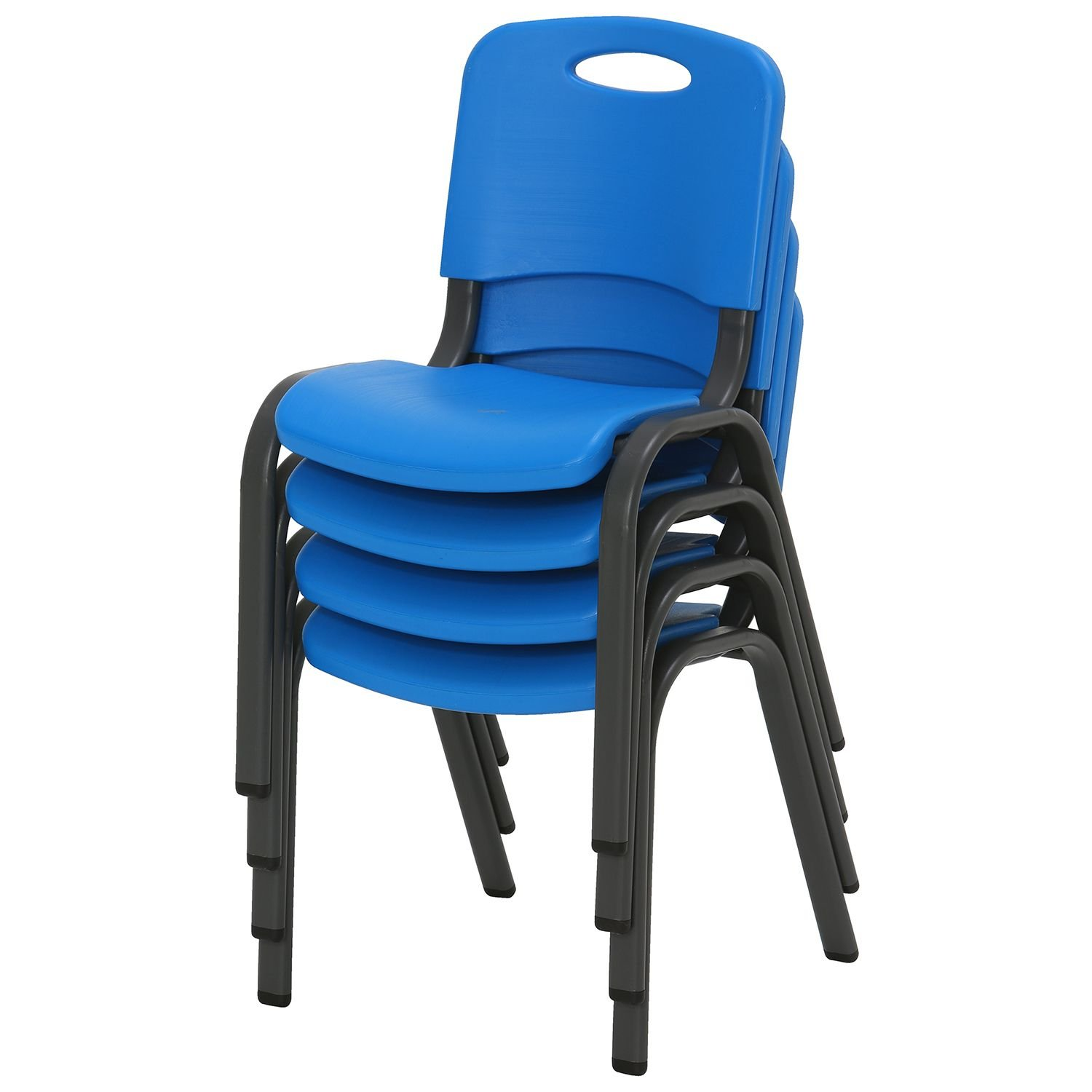 Lifetime Kids Stacking Chair, Dragonfly Blue - Pack of 4