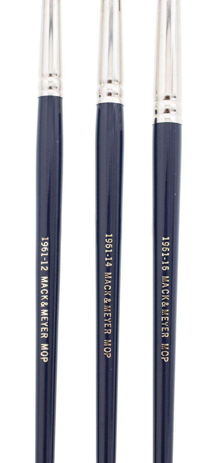 Andrew Mack Brush AM1961-12-16 Series 1961 Mack & Meyer Mop Pinstriping Brushes Sizes 12-16 by Andrew Mack Brush (Image #3)