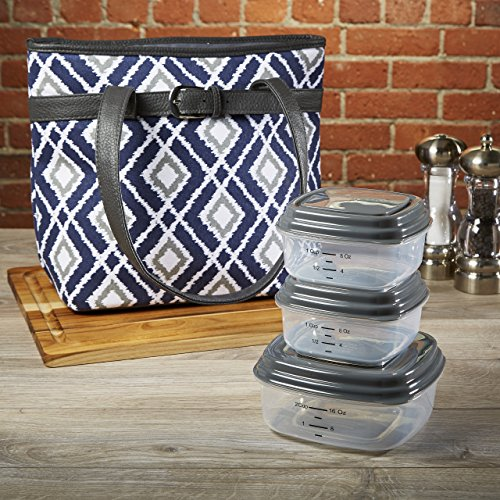 fit-fresh-newberry-insulated-lunch-bag-set-with-reusable-container-set-zipper-closure-navy-diamond-i