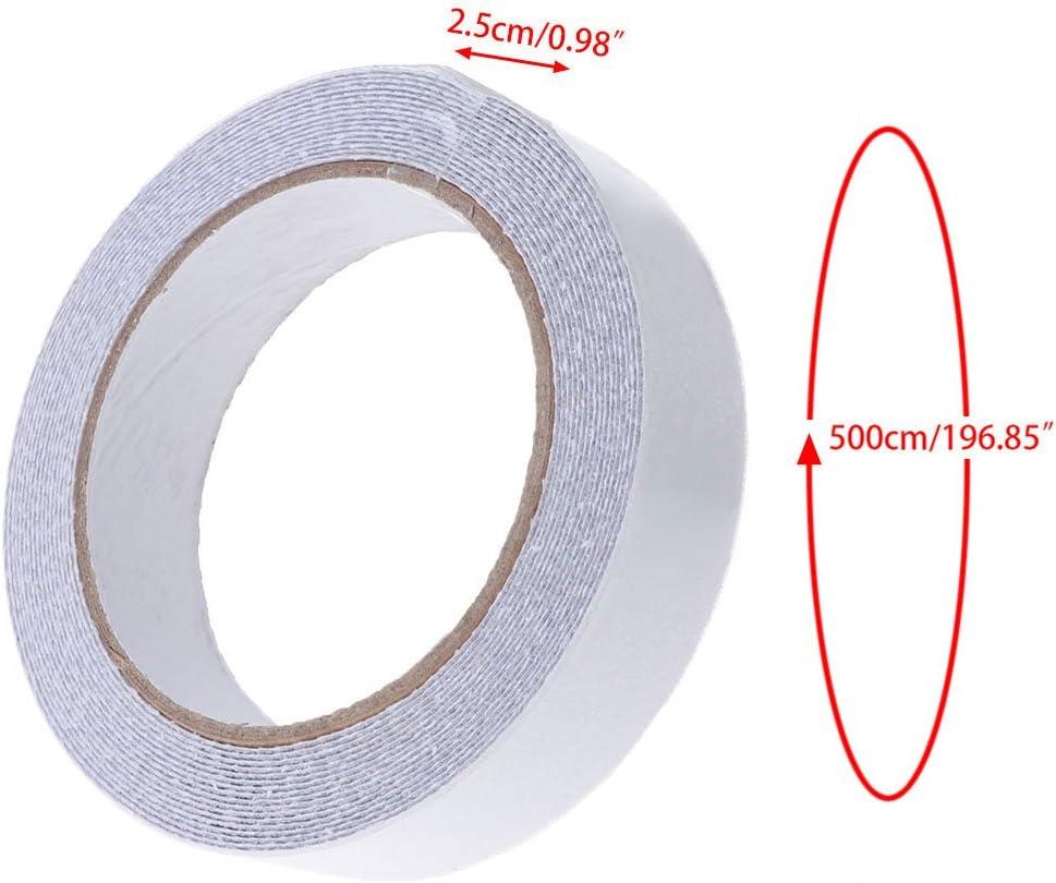 ZOOMY Tiras de Cinta Palos Ducha de ba/ño Pegatina Adhesiva Antideslizante Transparente Tiras Antideslizantes Coj/ín de Agarre Pisos Cinta de Seguridad 5 m