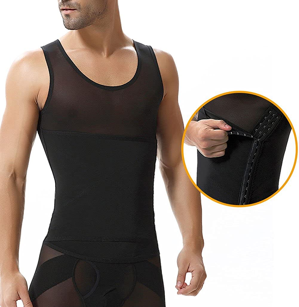 b28621019a Showbellia® Men Shapewear Tummy Stomach Control Girdle Vest Waist Trimmers  Corset Compression Slimming Abdomen Tank Tops Hook   Eye Closure