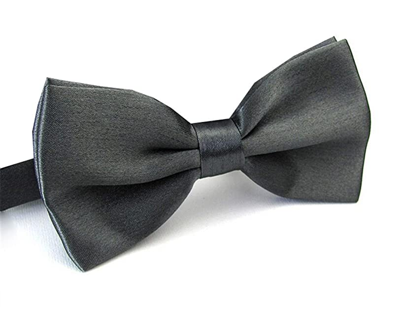 1920s Bow Ties | Gatsby Tie,  Art Deco Tie Mens Pre Tied Bow Ties for Wedding Party Fancy Plain Adjustable Bowties Necktie $6.95 AT vintagedancer.com