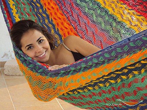 Cotton Mayan Hammock (Thick Cord LARGE Mayan Hammock Multicolor COTTON)