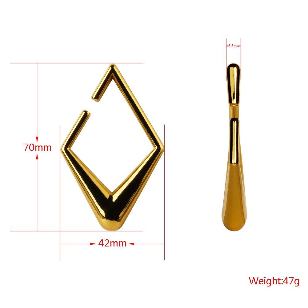 KUBOOZ 1 Par 2018 Nueva Moda Geometría de Acero Inoxidable 2G 6mm Tapones Para Oídos Túneles Medidores Camilla Piercings: Amazon.es: Joyería