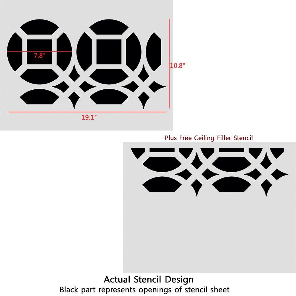 London style art decor Stencil Paint Walls fabrics furniture Reusable Stencils