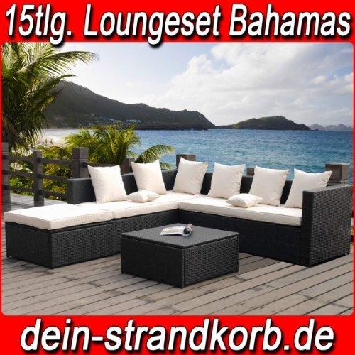 Farbwahl-15tlg-Deluxe-Lounge-Garnitur-Cuba-Sitzgruppe-Gartenmbel-Rattan-Set-Geflecht-Polyrattan-inkl-Sitzkissen
