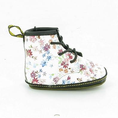 ziemlich cool Junge heiß-verkaufender Fachmann Dr. Martens - Auburn Crib Lace Boot, White Floral, 0 UK Baby ...