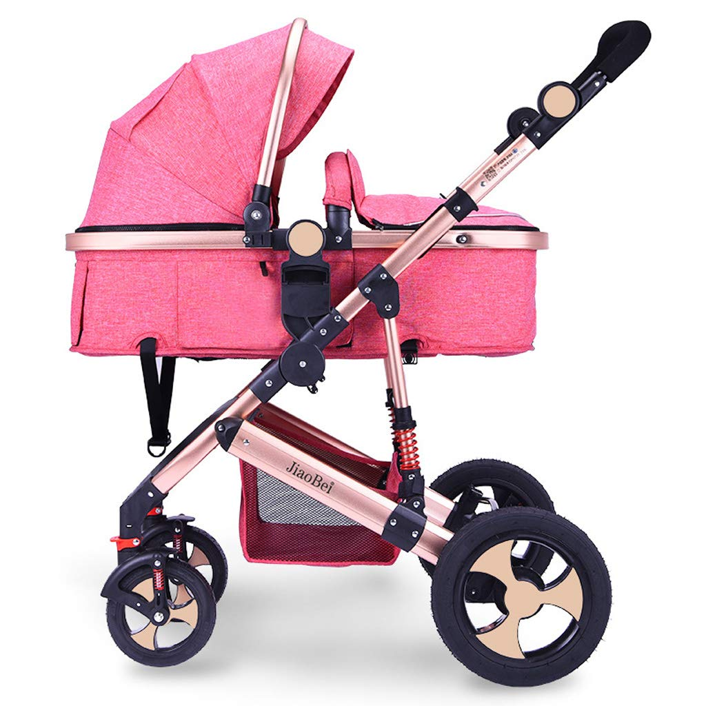 High Landscape Baby Stroller, Newborn Infant Pushchair Travel System Suitable from Birth to 36 Months - 37 90 90 cm
