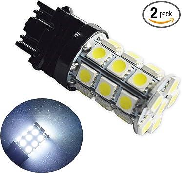 Ruiandsion 2pcs 12V 3157 LED Light Bulb 540 Lumens Super Bright 5050 27SMD Chipsets 3056 3156 3057 3157 LED Bulbs for Backup Reverse Light Brake Light Lamp,6000K White