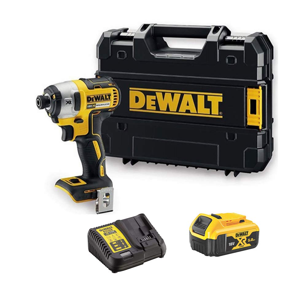 DEWALT DCF887N 18V BRUSHLESS Impact Driver 1x 5Ah Battery DCB184 Charger Case