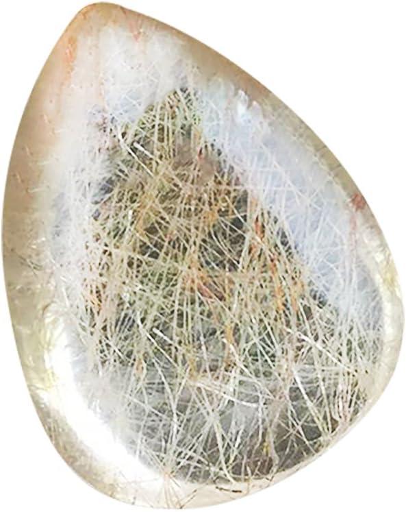 Yunhigh Gota de Agua Natural en Forma de Piedra de Cuarzo Piedras Preciosas Planta de Piedra (1 PC)