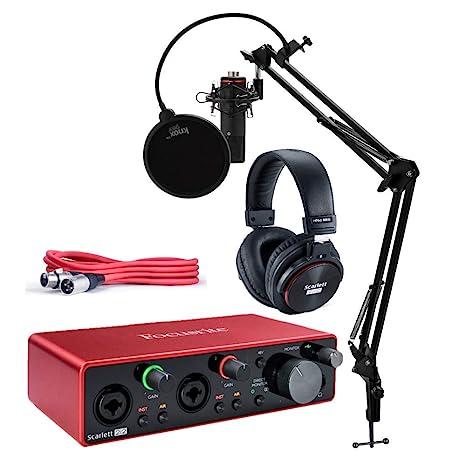 Amazon.com: Focusrite Scarlett 2i2 Studio 3rd Gen USB Audio ...