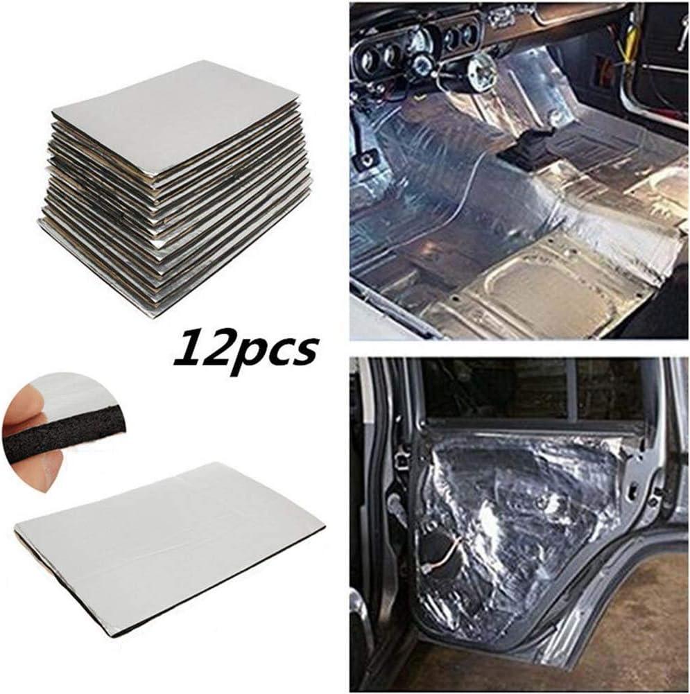 Car Universal Firewall Sound Batts Deadener Heat Insulation Mat Pad Maserfaliw Car Deadening Insulation Mat,12 Pcs Car Firewall Sound Deadener