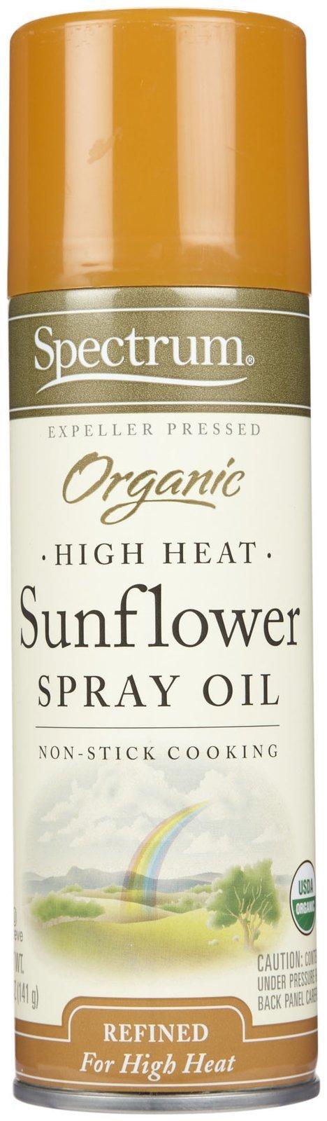 Spectrum Naturals Organic Sunflower Oil Spray, High Heat, 5 oz